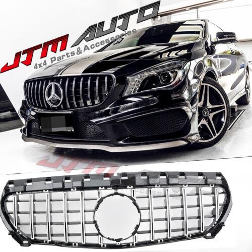 Chrome Black GT Bumper Grille Grill to suit Mercedes-Benz CLA  C117 X117 & CLA45