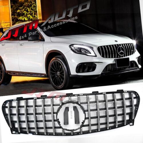 Chrome Black GT Bumper Grille Grill to suit Mercedes-Benz GLA X156 2018-2020