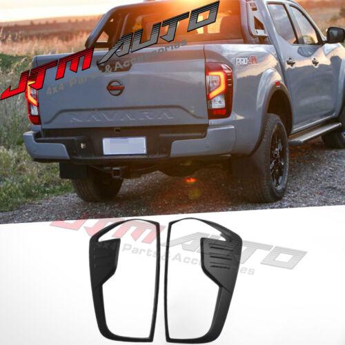 MATT Black Tail Light Cover Trim to suit Nissan Navara NP300 D23 ST STX 2021+