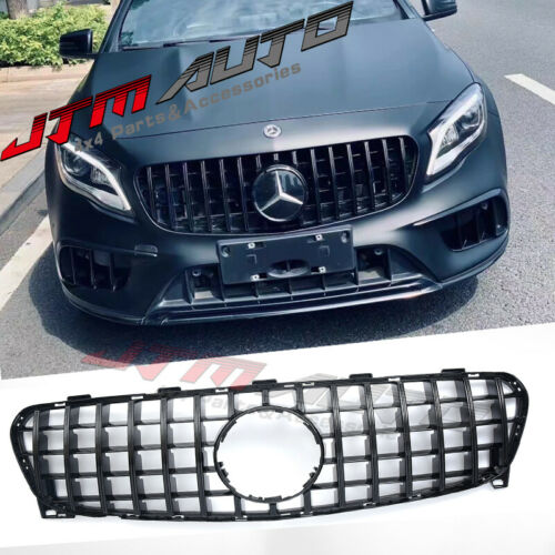 Gloss Black GT Bumper Grille Grill to suit Mercedes-Benz GLA X156 2018-2020