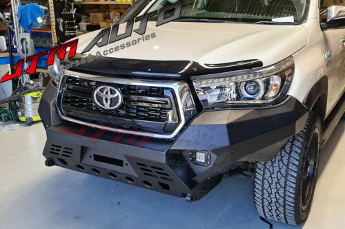 Heavy Duty Deluxe Bull bar Winch compatible to suit Toyota Hilux N80 2018-2020