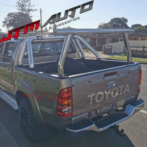 Universal Stainless Steel Ladder Rack Roll Bar To suit Toyota Hilux 2005-2021