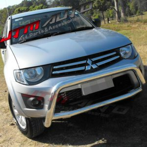 Nudge Bar Stainless Steel Grille Guard suits Mitsubishi Triton MN ML 2006-2015