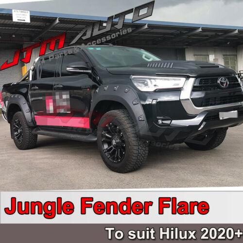 To suit Toyota Hilux SR5 SR Wrinkle Black Fender Flares Wheel Arch 2020+